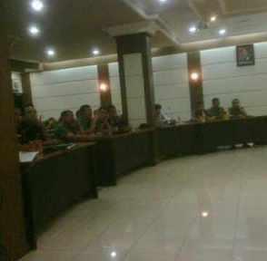 Rapat HUT Kodam Jaya Ke-61