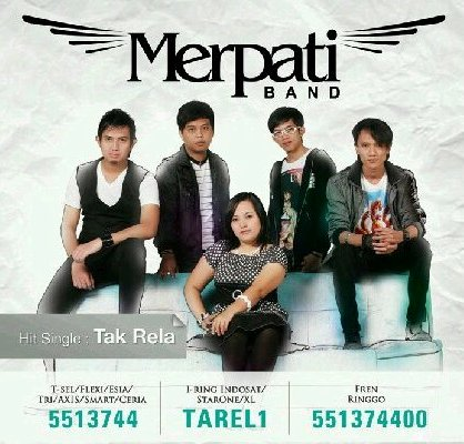 Merpati Band Tak Rela, Top XL