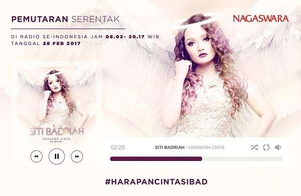 Siti Badriah Hari Ini Pemutaran Serentak Soundtrack Harapan Cinta